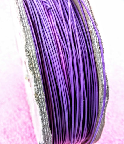 22 AWG Purple, Solid Polytetrafluoroethylene wire, By the foot