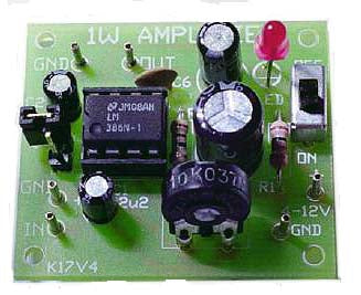 Low Voltage Amplifier, KIT - Requires Assembly