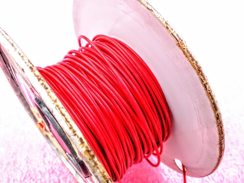 24 Gauge Red Jacket, Stranded PVC Wire, By the Foot