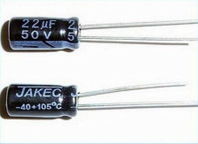 22uF, 50V Radial Electrolytic Capacitor