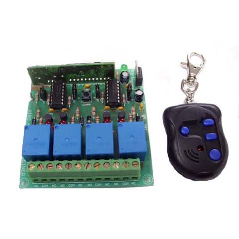 Rolling Code 4-Channel UHF Remote Control KIT- Requires Assembly - Requires Assembly