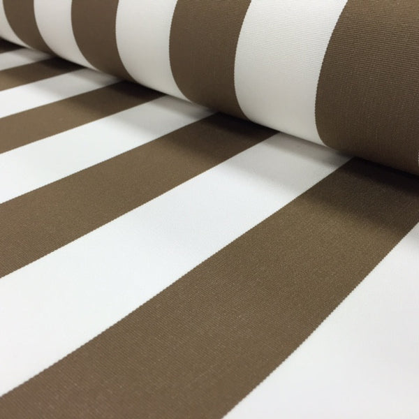 SUNBRELLA OUTDOOR FURNISHING FABRIC - COCOA STRIPE 3771