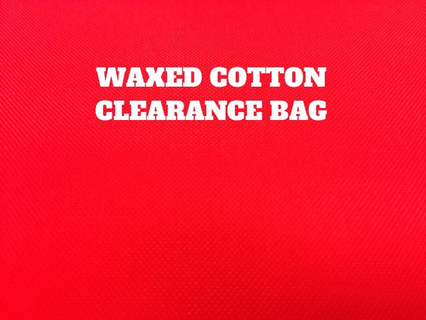 CLEARANCE BAG - WAXED COTTON