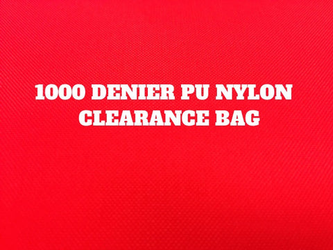 1000 DENIER CORDURA & PU NYLON CLEARANCE BAG