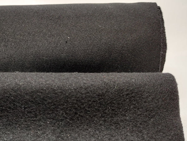SINGLE SIDED MICROFLEECE, BLACK - REDUCED TO CLEAR