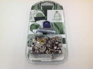 PRESS STUD FASTENER KIT - FABRIC TO FABRIC - 4 parts