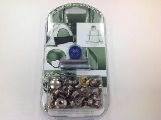 PRESS STUD - FASTENER KIT - FABRIC TO WOOD - 3 parts