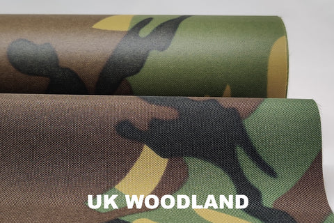 WATERPROOF PU COATED POLYESTER - CAMOUFLAGE PRINT