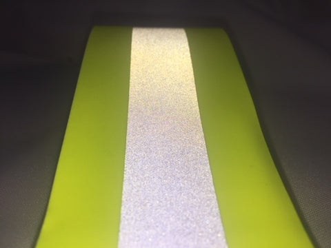 FLUORESCENT YELLOW TAPE WITH SILVER REFLECTIVE STRIPE 50mm