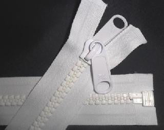 OPEN ENDED 10mm CHAIN ZIP - 61cm