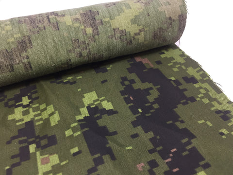 WOVEN NYLON - CANADIAN DIGITAL CAMOUFLAGE - CUT LENGTHS