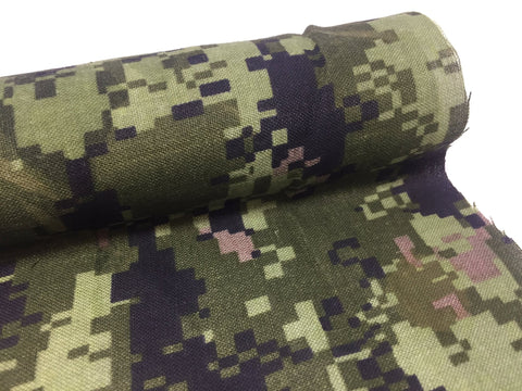 WOVEN POLYESTER - CANADIAN DIGITAL CAMOUFLAGE - CUT LENGTH