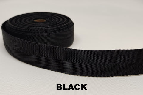HERRINGBONE SOFT NYLON WEBBING - 25mm