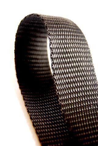 Black 20mm polypropylene webbing