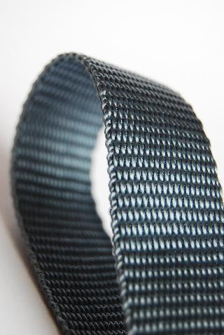 Grey 25mm polypropylene webbing