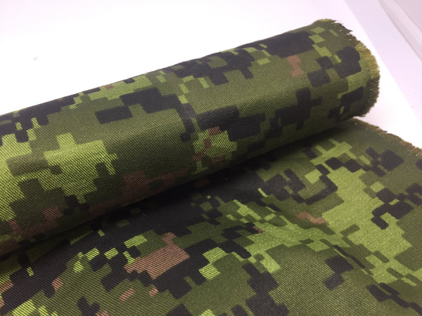 NYLON TWILL - W/R CANADIAN DIGI CAMO - CUT LENGTHS