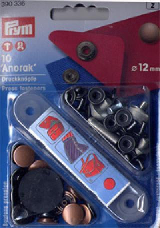 PRYM ANORAK POPPERS / PRESS FASTENERS