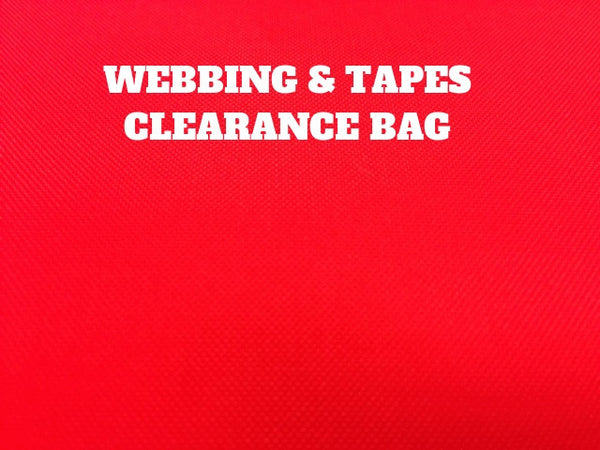 CLEARANCE BAG - WEBBING CORDS AND TAPE