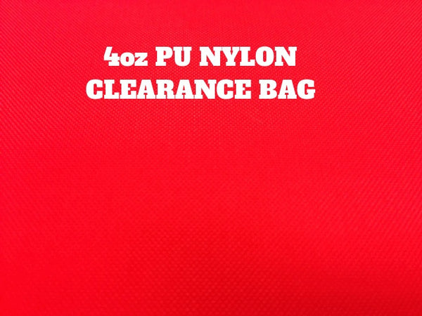 4oz PU NYLON CLEARANCE BAG