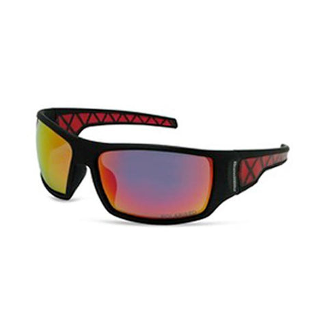 BondiBlu Platinum Polarised Sunglasses - Black Red
