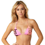 Fox Ladies Bandit Triangle Bikini Set - Merlot