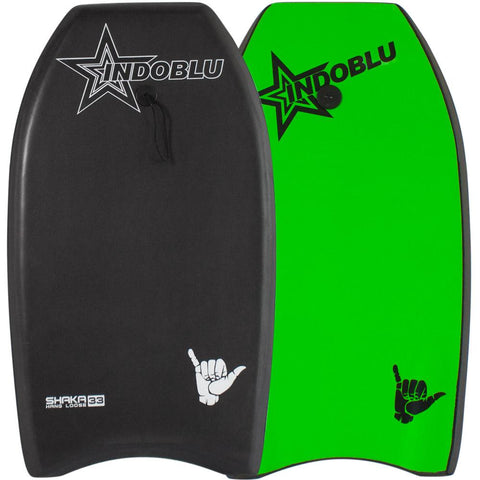 IndoBlu Shaka EPS Core Bodyboard - Matt Black / Green