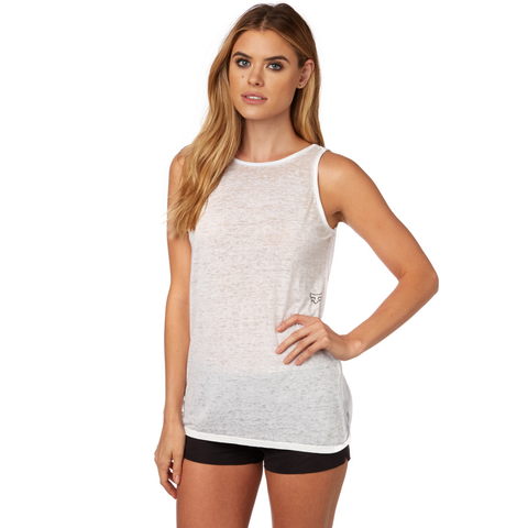 Fox Ladies Ventilate Twistback Tank - White