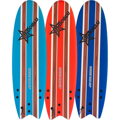 IndoBlu Rocket Fish Soft Top Surfboard