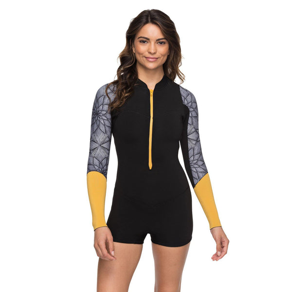 2mm POP Surf Long Sleeve Front Zip Springsuit Ladies