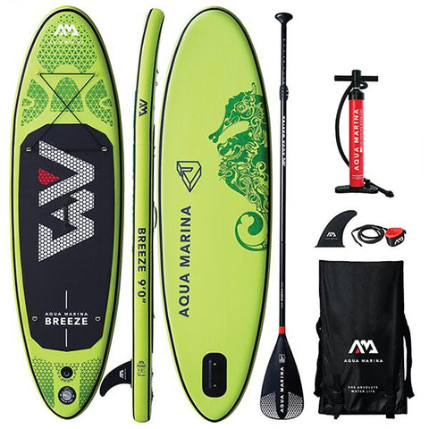 "AQUA MARINA - Breeze 9'0"" Stand Up Paddleboard + Sport Paddle"