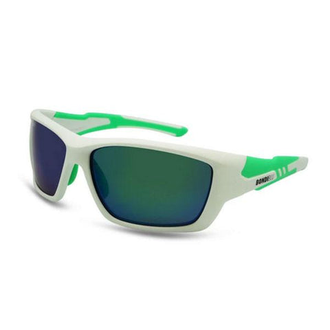 BondiBlu Platinum Polarised Sunglasses - White & Green