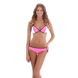 O'Neill Ladies Neo Bikini Set - Black / White / Lumo Pink