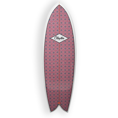 Clayton Retro Fish Surfboard