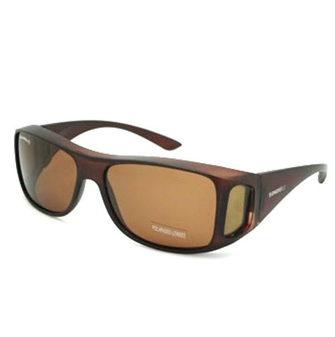 BondiBlu Polarised Sunglasses - Brown & Red
