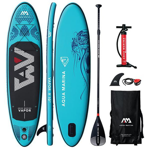 "AQUA MARINA - Vapor 9'10"" Stand Up Paddleboard + Sport Paddle"