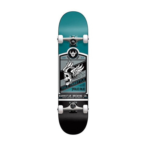 Darkstar - 7.625 Full Throttle Matte Teal Soft Wheels Skateboard