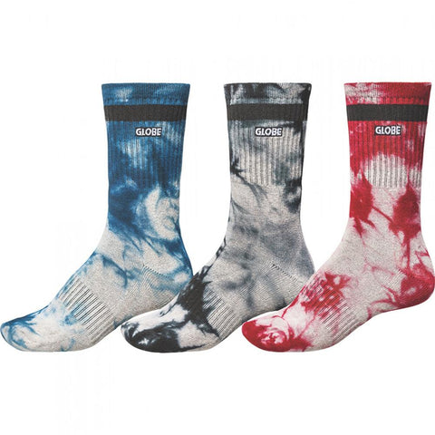 Globe All Tied Up 3 Pack Socks