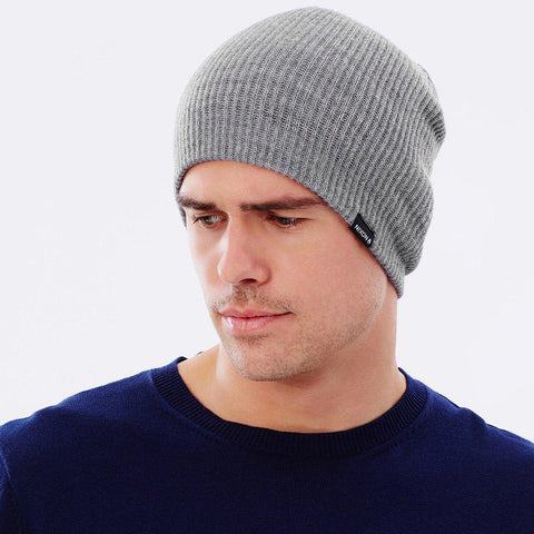 COMPASS BEANIE CHARCOAL HEATHER