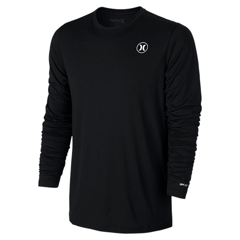 Hurley Dri-FIT Icon Long Sleeve Rash Vest - Black