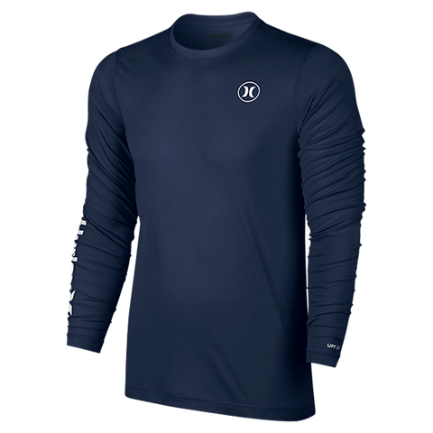 Hurley Dri-FIT Icon Long Sleeve Rash Vest - Navy