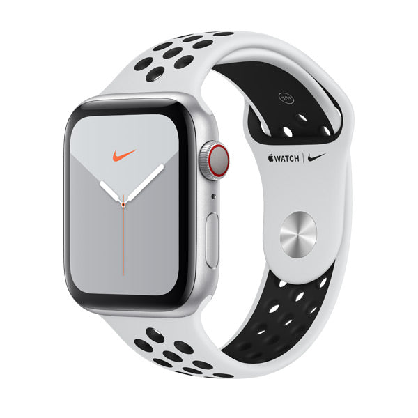 Apple Watch Nike Series 5 Silver Aluminium Case with Pure Platinum/Black Nike Sport Band (GPS + Cellular)
