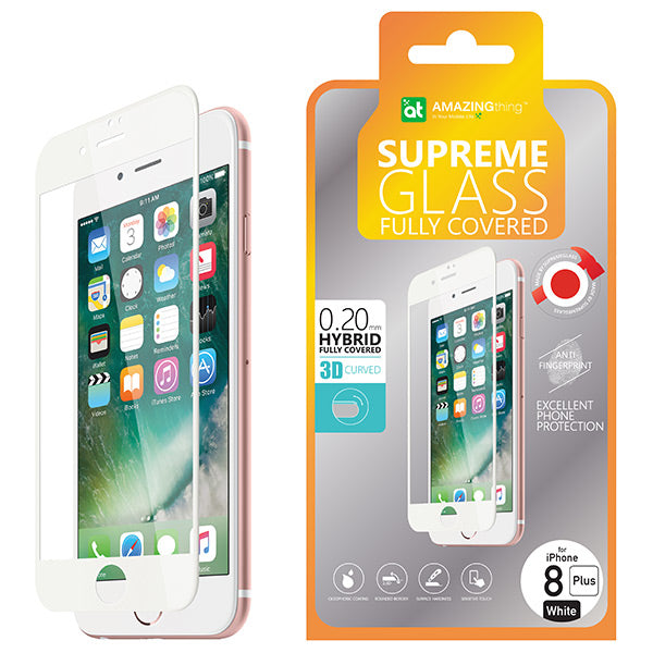 AMAZINGthing iPhone 8 Plus 0.2mm 3D Hybrid Tempered Glass