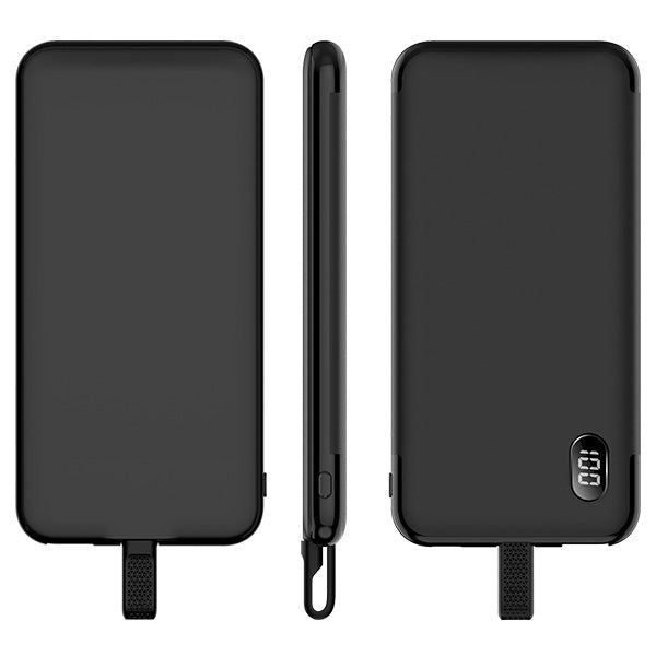 Mazer Energ Duo 10000mAh Power Bank QC3.0 for Build-in USB-C & Micro USB + USB-A