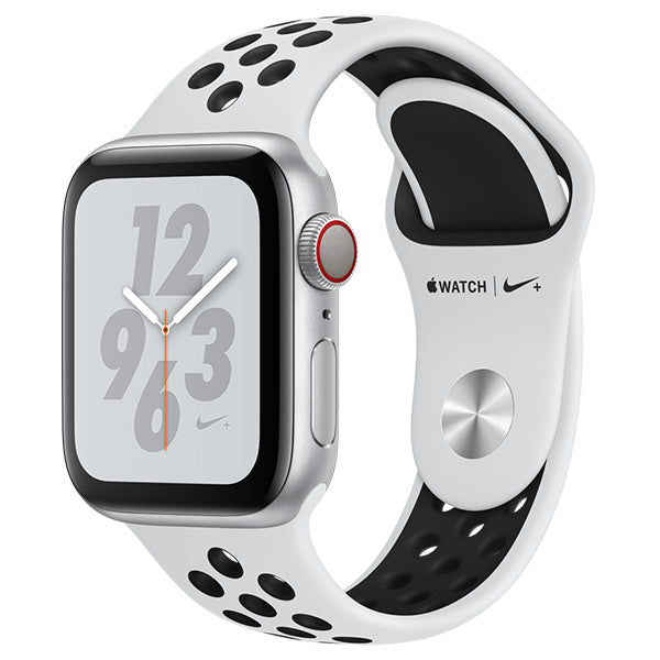 Apple Watch Nike Series 4 Silver Aluminum Case with Pure platinum/Black Nike Sport Band Cellular