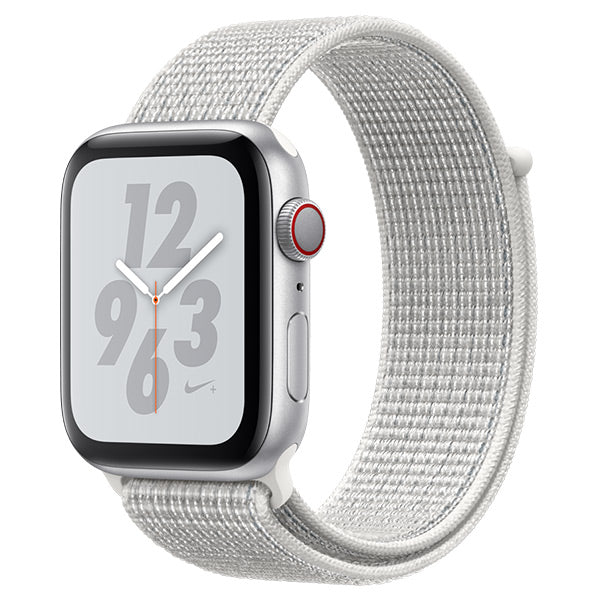 Apple Watch Nike Series 4 Silver Aluminum Case with Summit White Nike Sport Loop Cellular