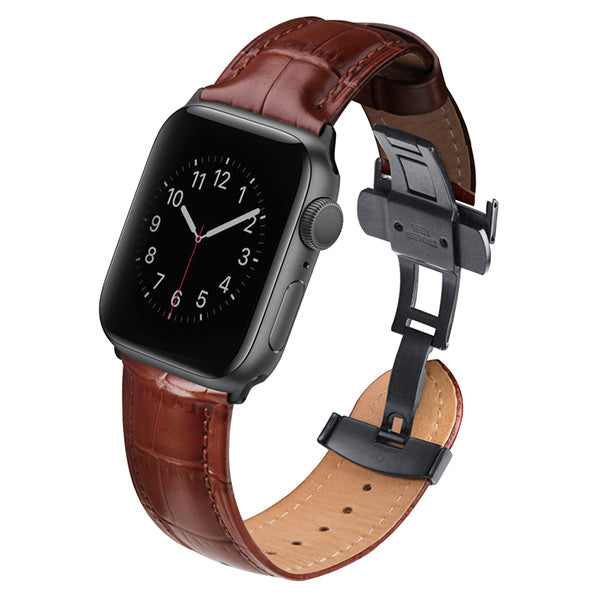 Uniq Apple Watch Series 4 Caro Leather Strap