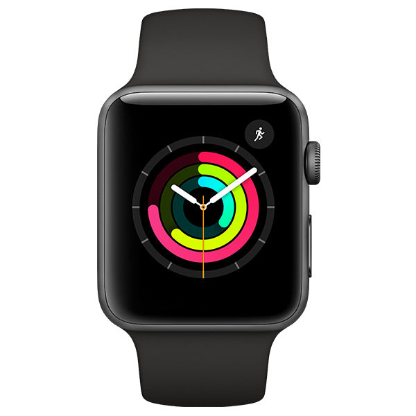 Apple Watch Series 3 Aluminium Case with Black Sport Band GPS