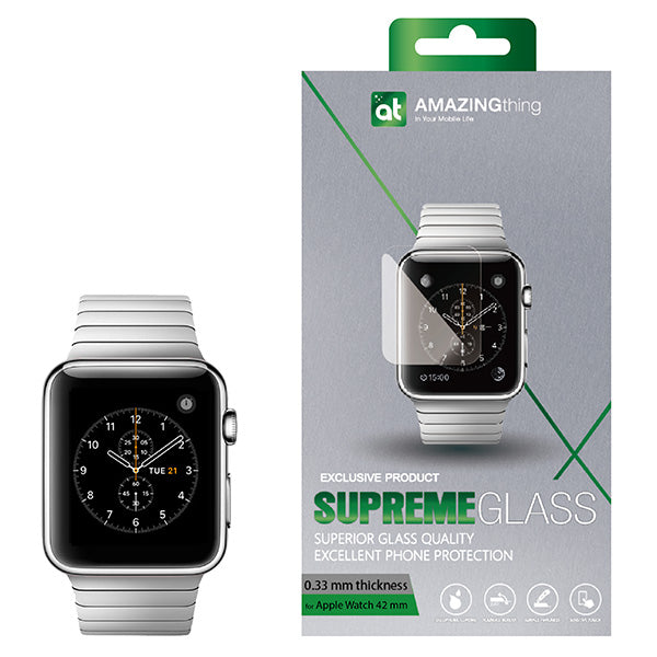 Amazingthing Apple Watch 0.3MM Supremeglass Protector