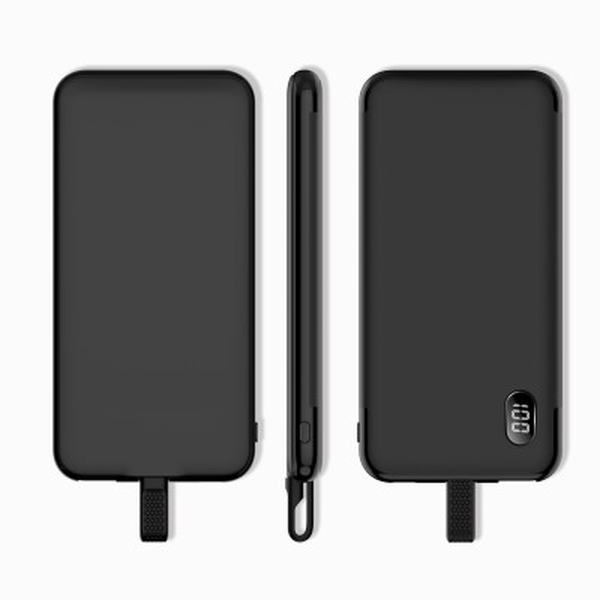 Mazer EnerG Duo MFI 10000mAh with Built-In MFI Cable USB-A Output