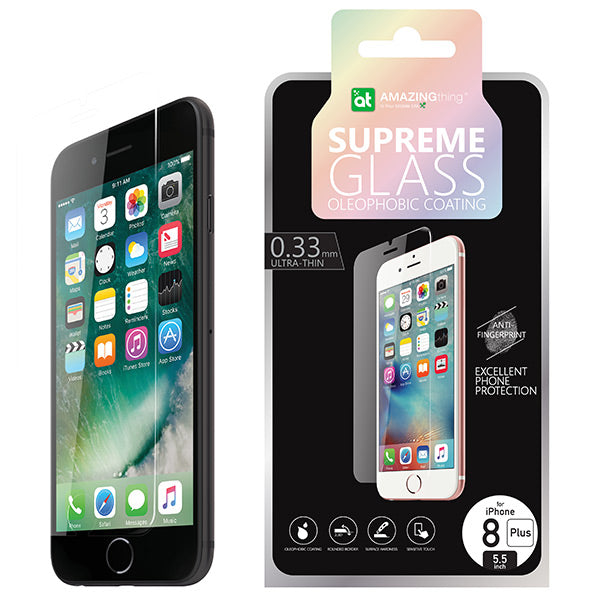 AMAZINGthing iPhone 8 0.3mm Tempered Glass Clear